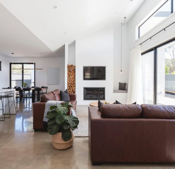 Image of our concrete floor polishing services in a Melbourne home